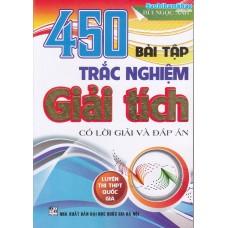 450 Bài tập trắc nghiệm Giải tích